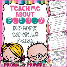 This Poetry Writing MEGA pack has 160 pages full of poetry writing activities to teach how to write 13 different types of poetry (haiku, list, bio, diamanté, shape, acrostic, and more)! The materials are differentiated so that they can be used in any primary grade. www.proudtobeprimary.com