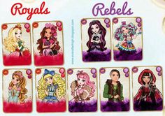 Ever after high royals and rebels