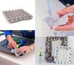 Versier een kader met zelfgemaakte rozen met kosteloos materiaal