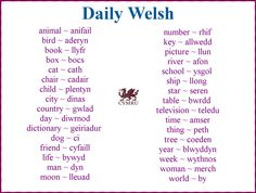 how to say welsh words