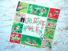 Vintage Girl Scout Handkerchief -- cute!!