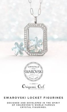 Need a beautiful, personal gift for her this holiday season? Add an exclusive Swarovski Crystal Locket Figurine to her Living Locket. #origamiowl #livinglocket #Swarovski #GiftForHer