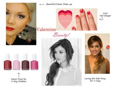Love the nail art here...Blush & Gold: Valentine's Day Guide