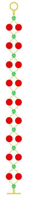 Christmas Cranberry Bracelet | AllFreeJewelryMaking.com