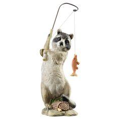 Gone-Fishing-Furry-Fisherman-Woodland-Raccoon-Garden-Outdoor-Statue