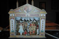 The adventures of Alice in Wonderland paper theatre nearly finished
