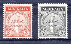 #Stamps #australia 1935 gallipoli mint pair the 1/= with some #toning,  View more on the LINK: http://www.zeppy.io/product/gb/2/232143639464/