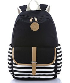 SBBGTM Lightweight Casual Daypack Backpack for College Bookbag for Women Girls School Bags Female College Students with Card Holder -- Visit the image link more details.