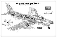 Republic RC-2 Rainbow airliner cutaway drawing.Was a civil