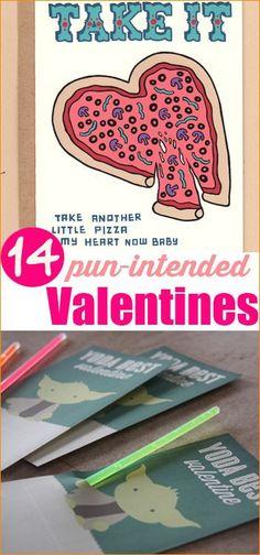 Pun-Intended Valentine Cards.  Creative DIY Valentine cards.