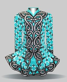 Elevation Design Irish Dance Solo Dress Costume ---- I like this color combo.....don't like all the circles though....