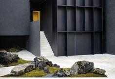 Select a location and find the nearest Gentle Monster stores. Minimalist Architecture, Space Architecture, Architecture Details, Space Interiors, Shop Interiors, Landscape Design, Garden Design, Facade Design, Landscape Pictures