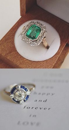 The pop of color in these rings is gorgeous!