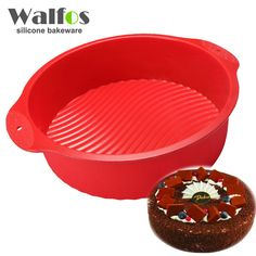 20*6.5CM 160G Big and Beautiful Round Shape 3D Silicone Cake Mold Baking Tools Bakeware Maker Mold Tray Baking