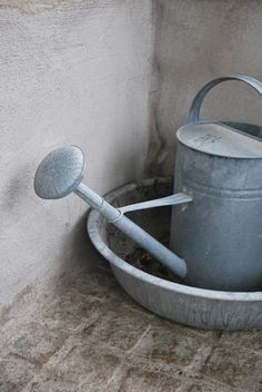 Julias Vita Drömmar http://www.pinterest.com/fairegarden/watering-cans-and-garden-metal/ . http://www.pinterest.com/pin/461056080575482370/