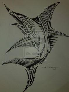 Polynesian Marlin by Tangaroa15.deviantart.com on @deviantART