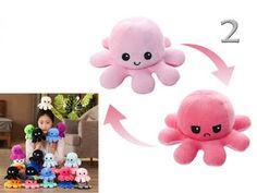 Pinkbagoly: Plüss kifordítható polip, vidám/mérges Octopus, Plush, Toys, Baby, Activity Toys, Clearance Toys, Calamari, Baby Humor, Gaming