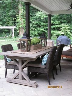Fancy x farmhouse table... my version! | Do It Yourself Home Projects from Ana White