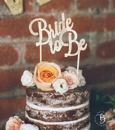 Bride to Be glitter cake topper great for bridal showers, engagements, and bachelorette parties! : : : : HOW TO PURCHASE : : : : Select your choice of color and width from the drop down menus. : : : : ITEM DETAILS : : : : Cut from thick glitter card stock thats then mounted on 0.030
