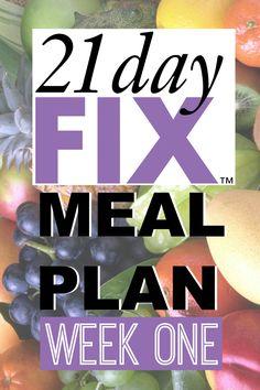 21 Day Fix Meal Plan - Week 1