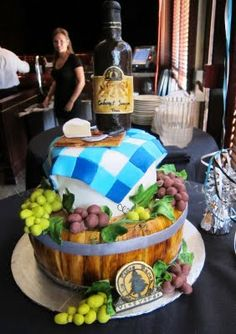 Wine-themed cake!