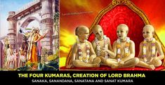 The Four Kumaras, Creation of Lord Brahma – Sanskriti - Hinduism and Indian Culture Website Outdoor Bamboo Plants, The Four, Krishna Images, Lord Shiva, Gods And Goddesses, Hinduism, History Facts, Destruction, Religion