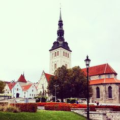 Instagram's offscriptlife admires The Old City of Tallin on a cloudy fall day.