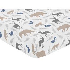 Found it at Wayfair - Woodland Animals Fitted Crib Sheet