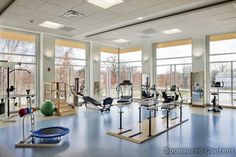 D'Youville Center for Advanced Therapy - Lowell, MA Rehabilitation Gym.  Photo: Warren Patterson Photography