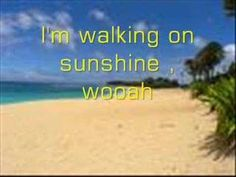 The song Walking on Sunshine by Katrina and The Waves is a very happy and upbeat song that I could take off and drive a long way listening to. This song also gives me a free spirited feeling. Best Walk Up Songs, Sunshine Songs, Transition Songs, Morning Songs, Inspirational Music, Praise Songs, School Videos, Brain Breaks, Kids Songs