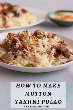 Yakhni Pulao | Mutton Yakhni Pulao | Goat meat pilaf Eid Recipes, Quick Recipes, Indian Food Recipes, Vegetarian Recipes, Dinner Recipes, Cooking Recipes, Eid Breakfast, Eid Food, Goat Meat