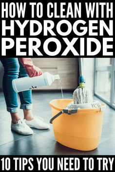 Miracle cleaner: 18 uses and advantages of hydrogen peroxide - 10 water . - Miracle Cleaner: 18 uses and advantages of hydrogen peroxide – 10 hydrogen peroxide for cleaning - Deep Cleaning Tips, House Cleaning Tips, Natural Cleaning Products, Cleaning Solutions, Spring Cleaning, Cleaning Hacks, Natural Products, Diy Hacks, Bathroom Cleaning Tips