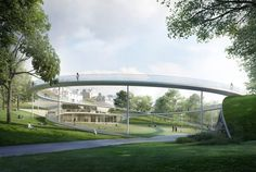William Matthews Associates and Sou Fujimoto Architects with BuroHappold Engineering, GROSS., Purcell, Scott Hobbs Planning and Filippo Bolognese. Image © Malcolm Reading Consultants / William Matthews Associates and Sou Fujimoto Architects Pavilion Architecture, Architecture Images, Architecture Visualization, Landscape Architecture, Landscape Design, Monumental Architecture, Sou Fujimoto, Bridge Design, Pedestrian Bridge