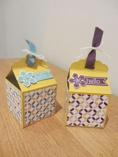 Tag Topper Box, video tutorial, Stampin' Up