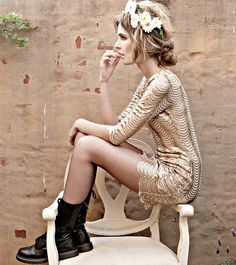 paris scallop dress by tfnc london {0yster pearL (by Nadja Seale) http://lookbook.nu/look/3475941-yster-pearL}