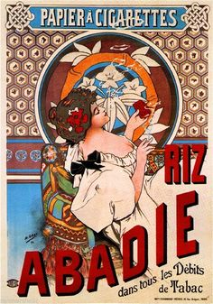Riz Abadie Vintage French Nouveau France Poster Print Art Advertisement #ArtNouveau
