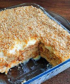 PoutigkaMpiskotvn Easy Peanut Butter Pie, Greek Sweets, Greek Recipes, Lasagna, Food To Make, Cake Recipes, Frozen, Food And Drink, Birthday Cake