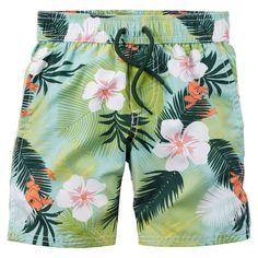 84e5eb02046cc Carter's Tropical Print Swim Trunks Toddler Beach, Toddler Swimming,  Hawiian Outfit, Boys Swim
