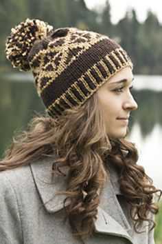 Ravelry: Chunky Fair Isle Pom Pom Hat (C279) pattern by Tanis Gray