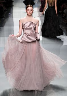 I would really feel like the princess I am wearing this.  Lose the nude material around the neck and shoulders and make the skirt more opaque for real life, and I'll take it!
