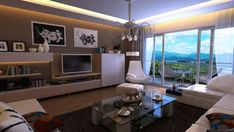 A room with a view to showcase, turn that view into the focal point of the bachelor pad.