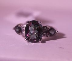 Lot:Exquisite Sterling Silver Ring with Lab Alexandrite and, Lot Number:5, Starting Bid:$350, Auctioneer:Buy Art Auctions, Inc., Auction:Exquisite Sterling Silver Ring with Lab Alexandrite and, Date:08:00 AM PT - Nov 4th, 2015