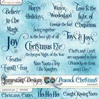 A Peacock Christmas ~ Wordart ~ by Jumpstart Designs