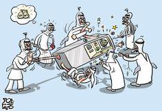 كاريكاتير جريدة الحياة (السعودية)  يوم الثلاثاء 10 فبراير 2015  ComicArabia.com  #كاريكاتير