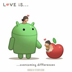Love is overcoming differences