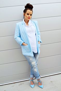 Long Blazer, Boyfriend Jeans, Maternity Look