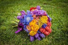 Ramo novia tonos vibrantes by Andaluci floral