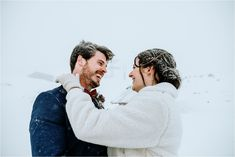 Bride and groom embrace, covered in snow, after their outdoor winter elopement ceremony in Austria. Photos by Wild Connections Photography Snow Wedding, Dream Wedding, Got Married, Getting Married, Moving To San Diego, Emotional Support Animal, Winter Wedding Inspiration, Intimate Weddings, Outdoor Ceremony