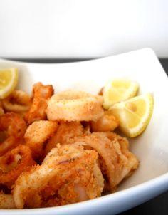Anelli di calamari fritti