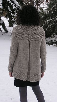 London Bridges Cardigan from ravelry: jacket with back pleat